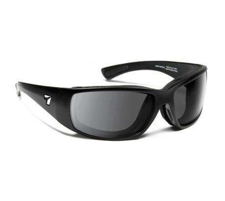 Image of 7 Eye Air Shield Taku Plus Sunglasses, SharpView Gray Lens, Matte Black Frame,S-L