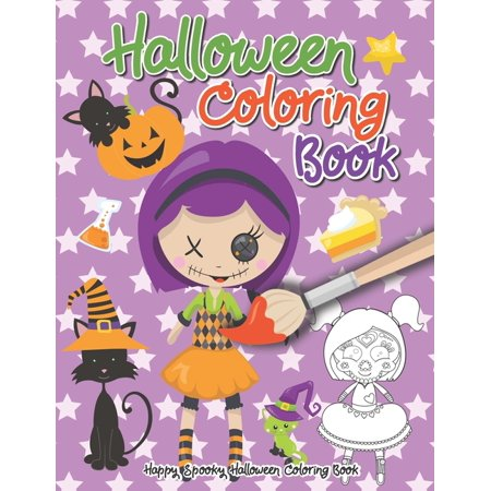 Ideas For Halloween Parties At School (Happy Spooky Halloween Coloring Book: First Grade Coloring Activity Book - Halloween Gifts For Kids Under 10)