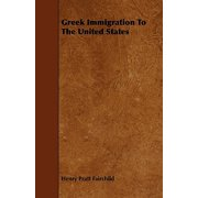 Greek Immigration to the United States