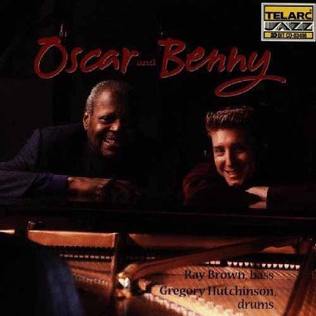 Personnel: Oscar Peterson, Benny Green (piano); Ray Brown (bass); Gregory Hutchinson (drums).Recorded at Manta Eastern Sound, Toronto, Canada on September 10 & 11, 1997.  Includes liner notes by Alyn Shipton.Though these two pianists are a generation apart, there is much love suffused in this swinging duo's playing.  The dialogue between the two players is so seamless it's hard to tell who's playing when.  And no, two pianos isn't too much when the players are as sensitive and understanding of each other as these two.  If one plays a swinging single-note line, the other punches rhythmic chordal accompaniment, if one plays tight chords in the high register, the other lays down resonant pads underneath.Peterson and Green never get in each other's way or let things get too busy.  On