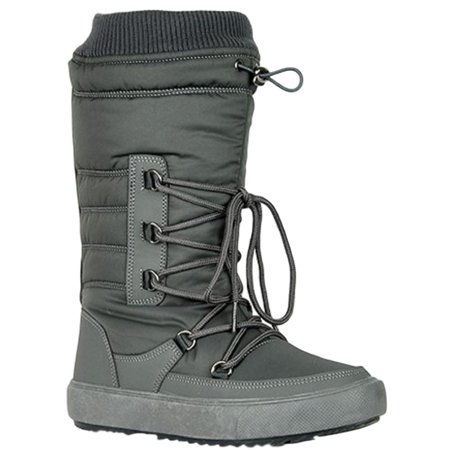 Youth-01 Women Waterproof Warm Hiking Snow Rain Winter Mid Calf Drawstring Boot