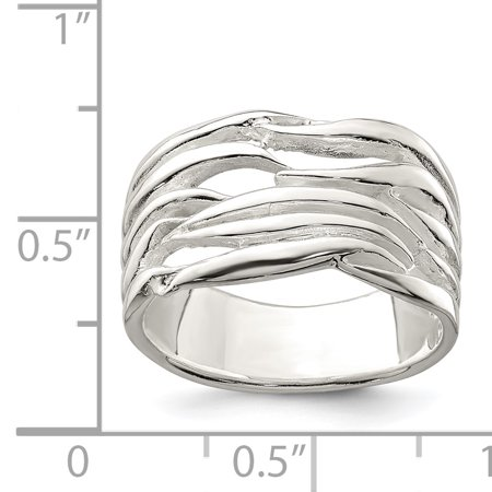 925 Sterling Silver Solid Band Ring Size 6.00 Fine Jewelry Gifts For Women For Her - image 2 of 6