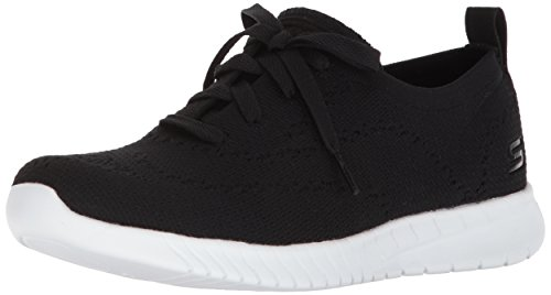 Skechers Sport Women's Wave-Lite Sneaker,Black,9.5 M US