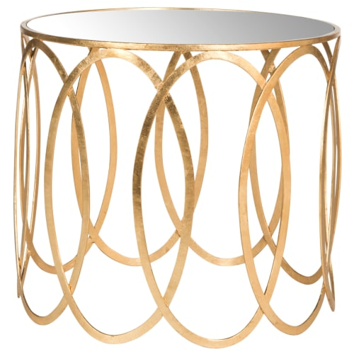 Safavieh Cyrah Accent Table, Antique Gold Leaf