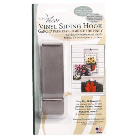 Wood Vinyl Siding - Christmas Mountain 2 Pack Vinyl Siding Hook VSH05
