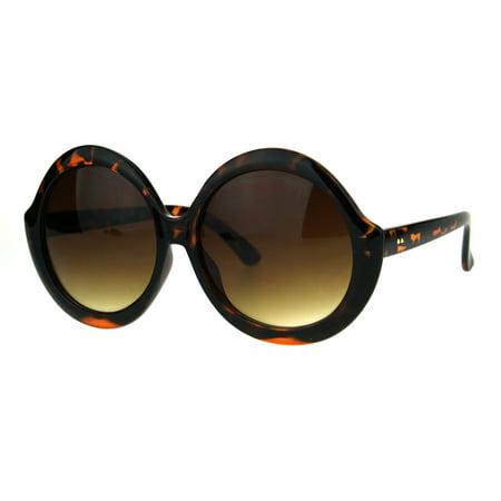 7cf04e4862 SA106 - Womens Fem Mod Round Shaggy Groove Hippie Plastic Frame Sunglasses  Tortoise Brown - Walmart.com