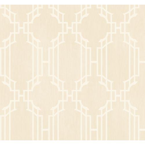 YORK AD8188 Beige Book Trellis With Stripe Wallpaper