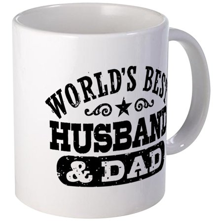 CafePress - World's Best Husband And Dad Mug - Unique Coffee Mug, Coffee Cup