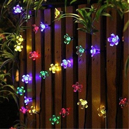 50 LEDS Holiday Decorations Solar String Lights Flower Garden Lights Panpany Outdoor Lighting for Indoor, Patio, Fence,Patio, Party](Flower Led)