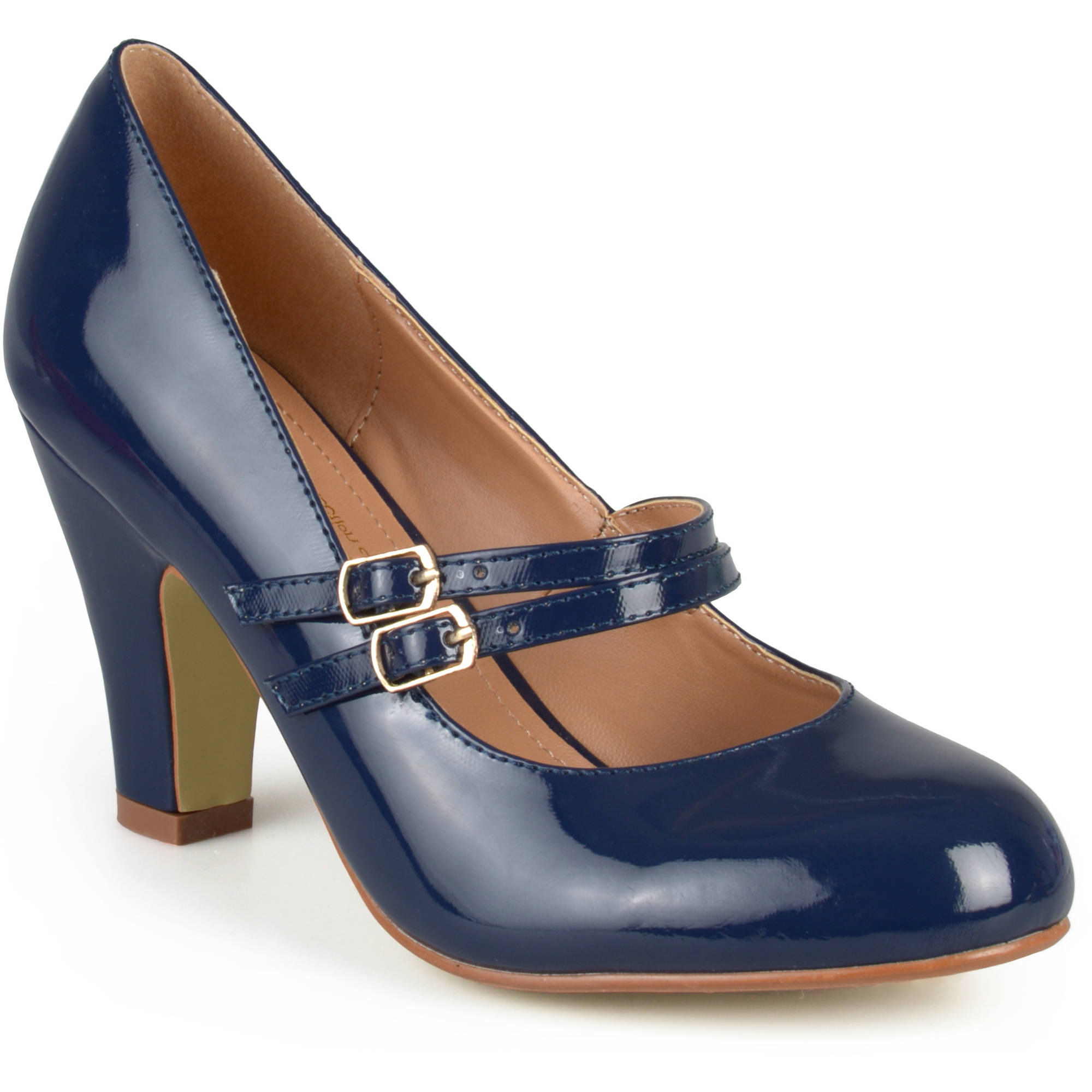 Brinley Co. Women's Mary Jane Patent Leather Pumps