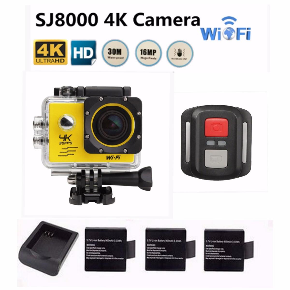 "SJ8000 4K HD 1080P 2.0"" LCD WiFi Action DV Sports Camera ..."