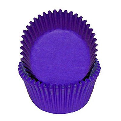 Purple Baking Cupcake Liners - 50 Count - National Cake Supply - Purple Cupcake Papers