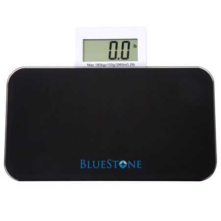 Bluestone Glass Digital Body Scale with Expandable Readout â Black