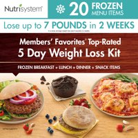 Nutrisystem 5 Day Members' Favorites Top-Rated Frozen Weight Loss Kit, 15 Meals, 5 Snacks