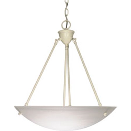 Replacement for 60/373 3 LIGHT 23 INCH PENDANT ALABASTER GLASS BOWL TEXTURED WHITE TRANSITIONAL