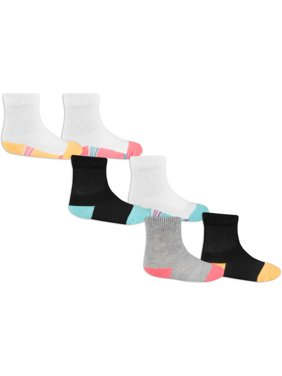 Baby Toddler Girl Crew Socks, 6 Pack
