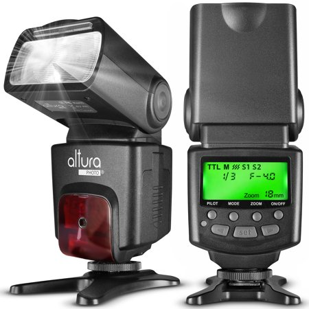 Altura Photo AP-C1001 Speedlite Flash for Canon DSLR Camera with Auto-Focus, E-TTL, Wireless Trigger Slave (Best Wireless Flash Trigger For Canon)