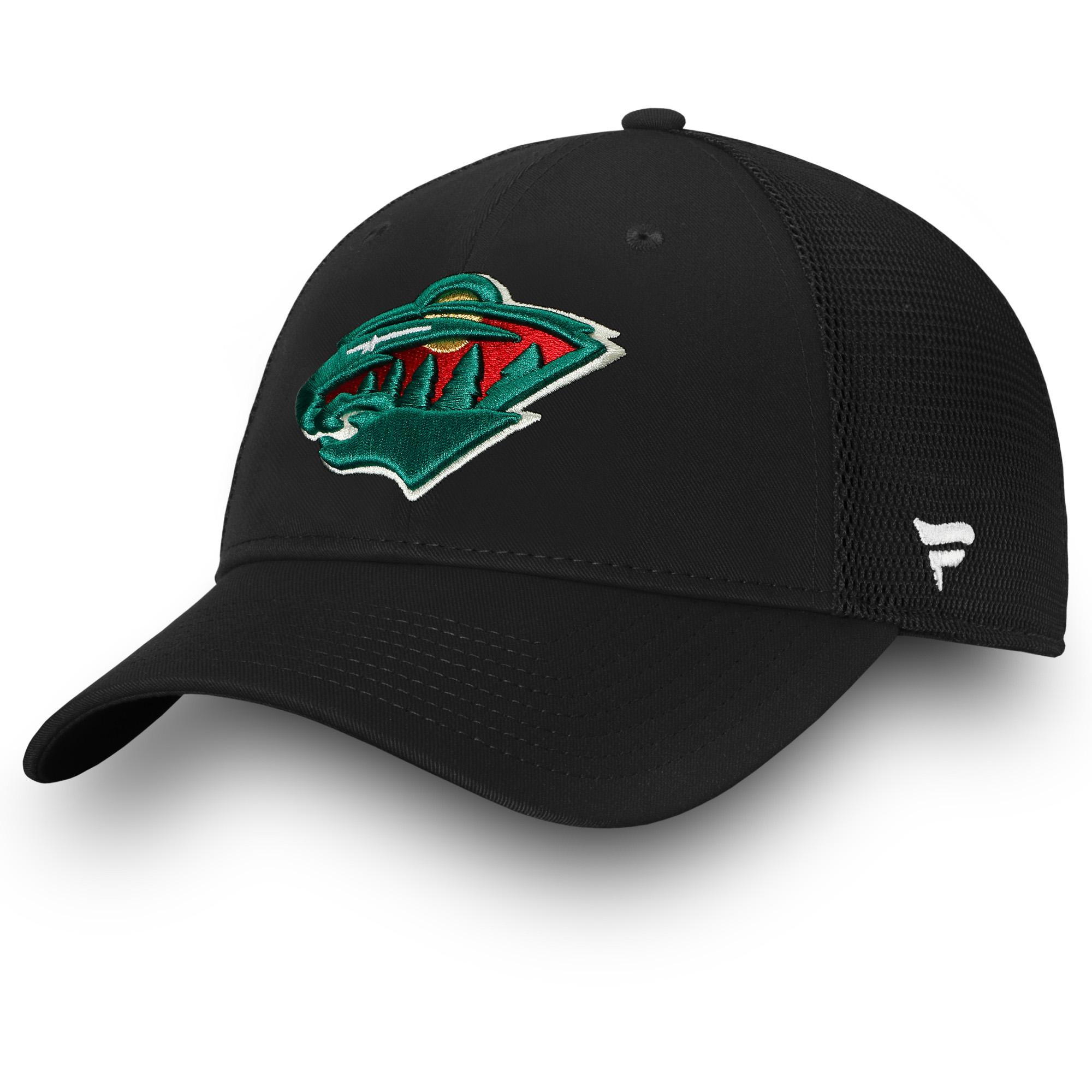 Minnesota Wild Fanatics Branded Elevated Core Trucker Adjustable Snapback Hat - Black - OSFA