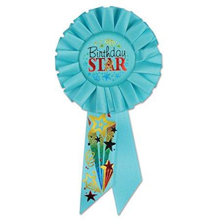 Birthday Star Rosette (Pack of 6)