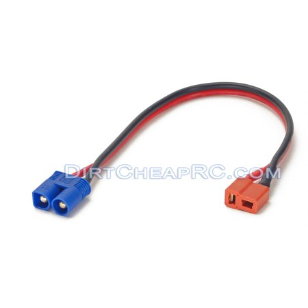 Deans Ultra (T-Plug) Female to EC3 Male: Battery Charger Charging Adapter (Leads Cables Wires Plugs Connectors) (EC-3 Team Losi Blade Parkzone Charger Adapter)