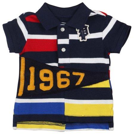 ff7bb117a Polo Ralph Lauren Infant Boys' (3M-24M)1967 Striped Shirt-French Navy