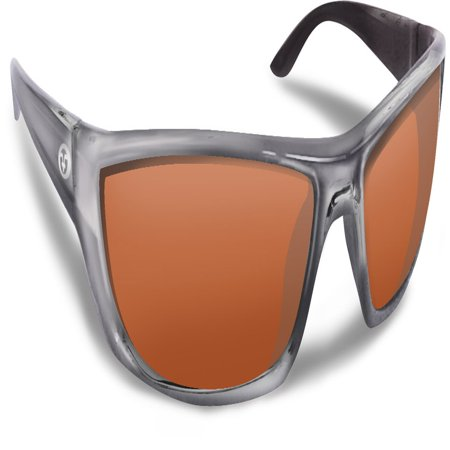 3e0c1e42cb Flying Fisherman Buchanan Crystal Gunmetal w Copper Sunglass - Walmart.com