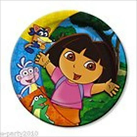 Dora the Explorer 'Party' Small Paper Plates - Dora Party Ideas