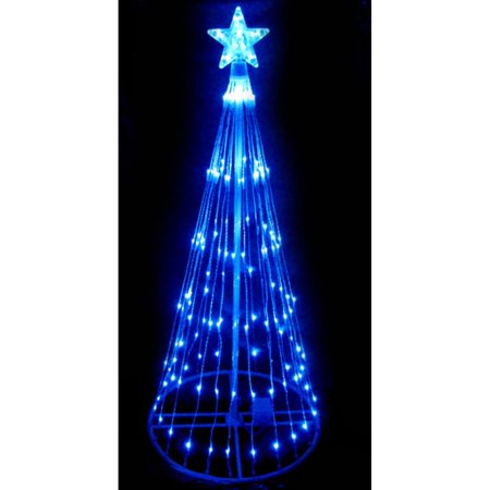 Northlight 4' Prelit Artificial Christmas Tree LED Light Show Cone Outdoor Decoration - Blue Lights
