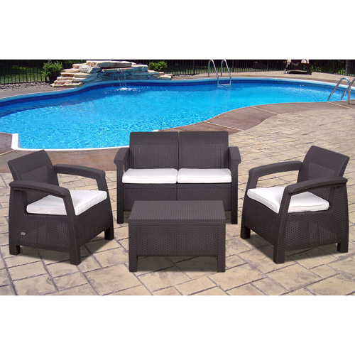 Keter Corfu 4 Piece Seating Group with Cushions