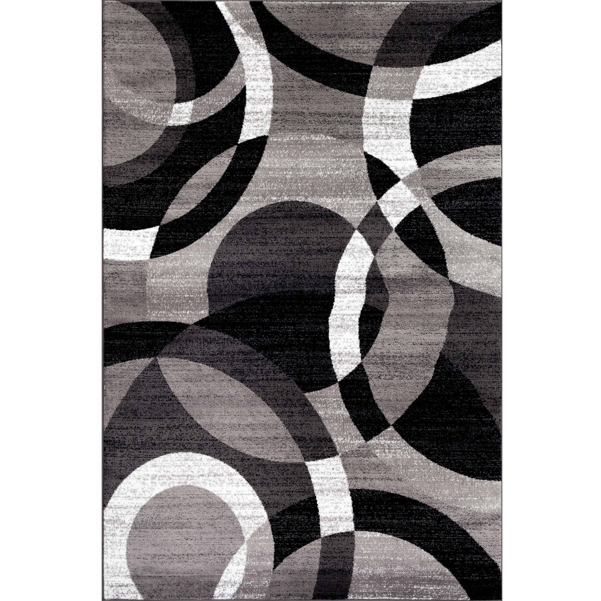 World Rug Gallery Contemporary Modern Circles Area Rug