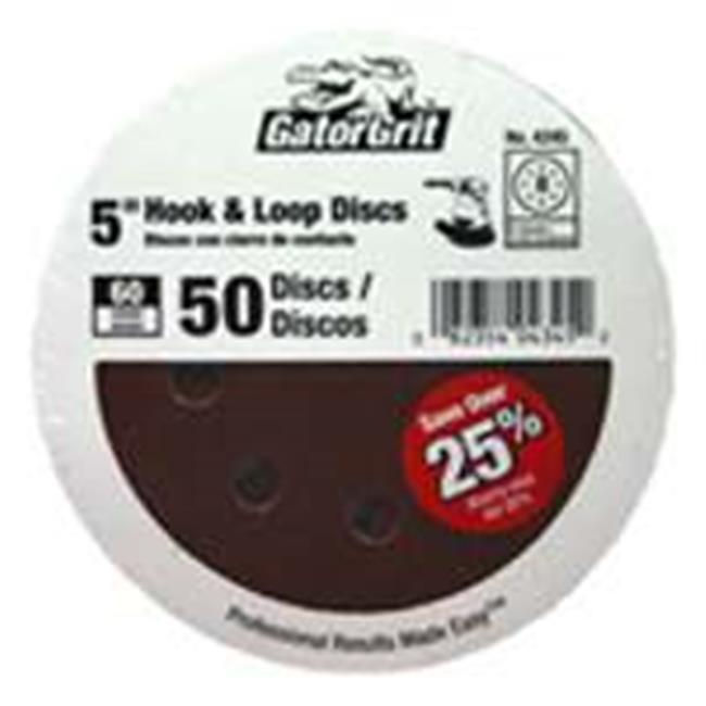 "80 Grit Gatorgrit 4344 Hook And Loop Vented Sand Disc 5/"""