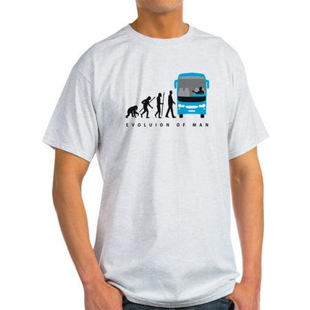 CafePress - Evolution Of Man Bus Driver T-Shirt - Light T-Shirt - CP ()