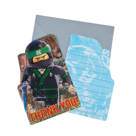 Company Birthday Cards (Lego Ninjago Postcard Thank You for Birthday - Party Supplies - Licensed Tableware - Licensed Invitations - Birthday - 8)