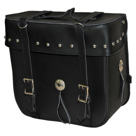 Medium 2 Strap Studded Sissy Bar Bag by Vance Leather's
