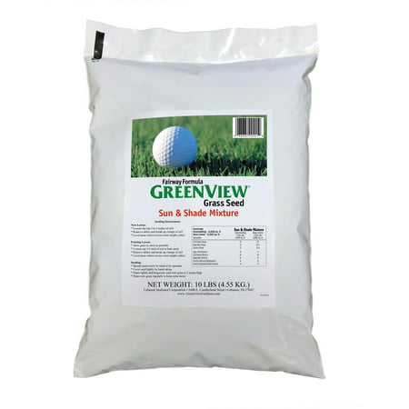 - GreenView Fairway Formula Sun & Shade Grass Seed Mixture, bag 10 lb