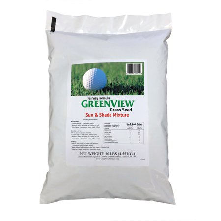 GreenView Fairway Formula Sun & Shade Grass Seed Mixture, bag 10 lb