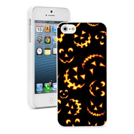 Apple Jacks Farm Halloween (Apple iPhone (6 Plus / 6s Plus) Hard Back Case Cover Halloween Jack O Lantern Faces Pattern)