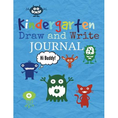 Kindergarten : Draw and Write Journal for Boys: Bonus Activity Pages Near the End of the - Kindergarten Art Lesson Halloween