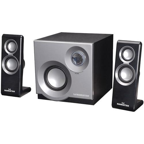 Manhattan 3050 2.1 Speaker System with 2 Satellites and 1 Subwoofer 161701