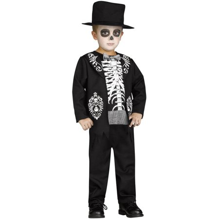 Skeleton King Boys Child Halloween Costume