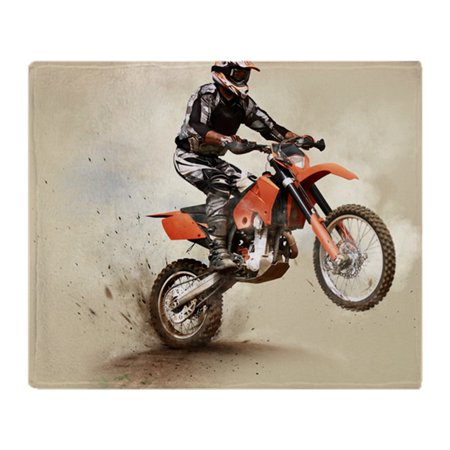 CafePress - Man On His Sport Motor - Soft Fleece Throw Blanket, 50