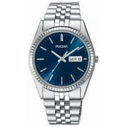 Mens Stainless Steel Case and Bracelet Blue Dial Silver Watch - PXF303