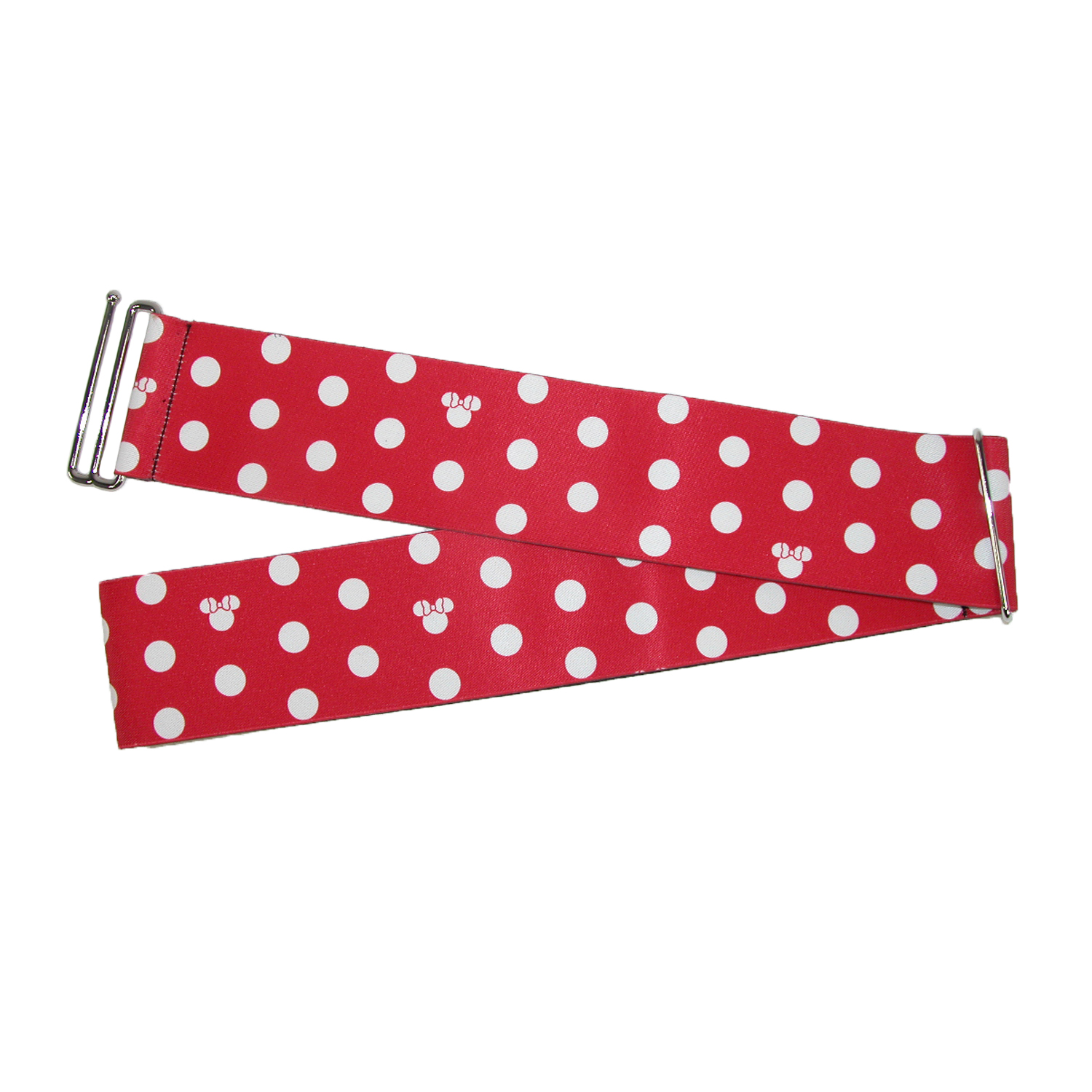 Buckle Down  Women's Disney Minnie Mouse 3 Inch Stretch Belt with Polka Dots