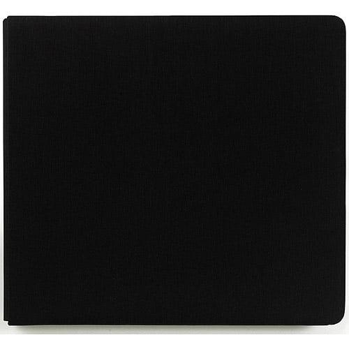 Colorbok Perfect Scrapbook Fabric Postbound Album, Black Licorice