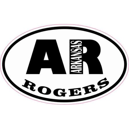 4in x 2.5in Oval AR Rogers Arkansas Sticker for $<!---->