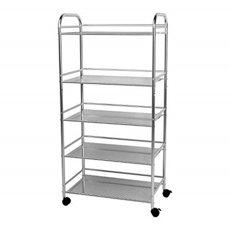 Stupendous Ykease 5 Shelf Kitchen Shelving Units Adjustable Rolling Cart With Shelves Stainless Steel Durable Microwave Bakers Rack Bathroom Garage Storage Download Free Architecture Designs Viewormadebymaigaardcom