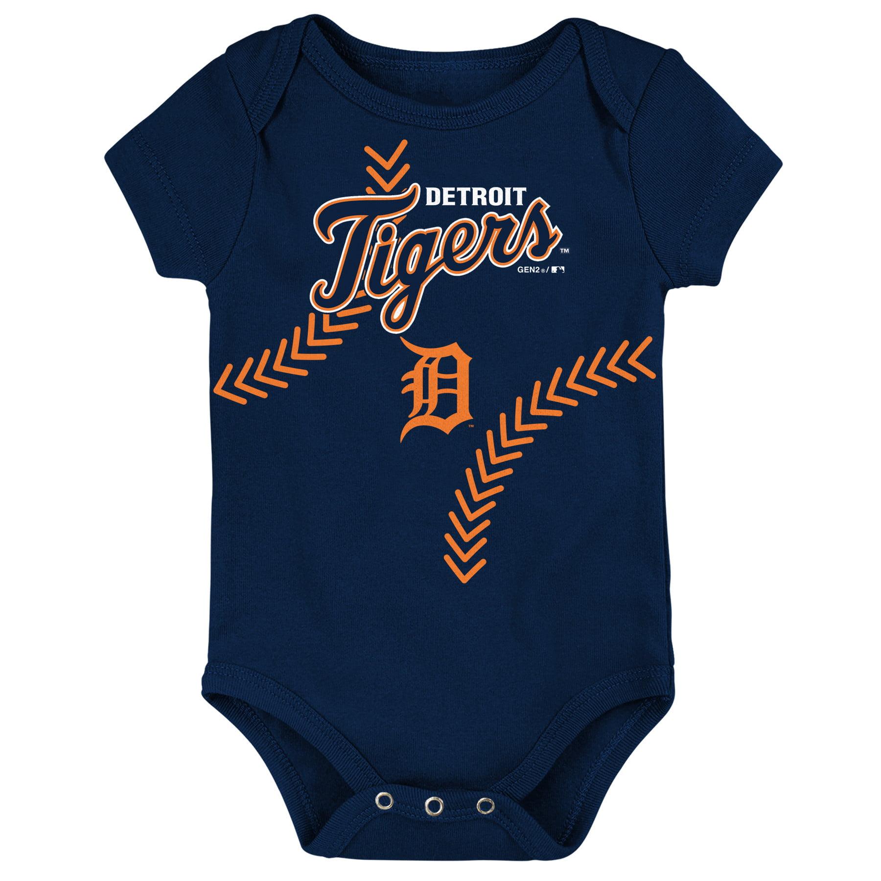 Detroit Tigers Newborn & Infant Fan-tastic Baseball Bodysuit - Navy