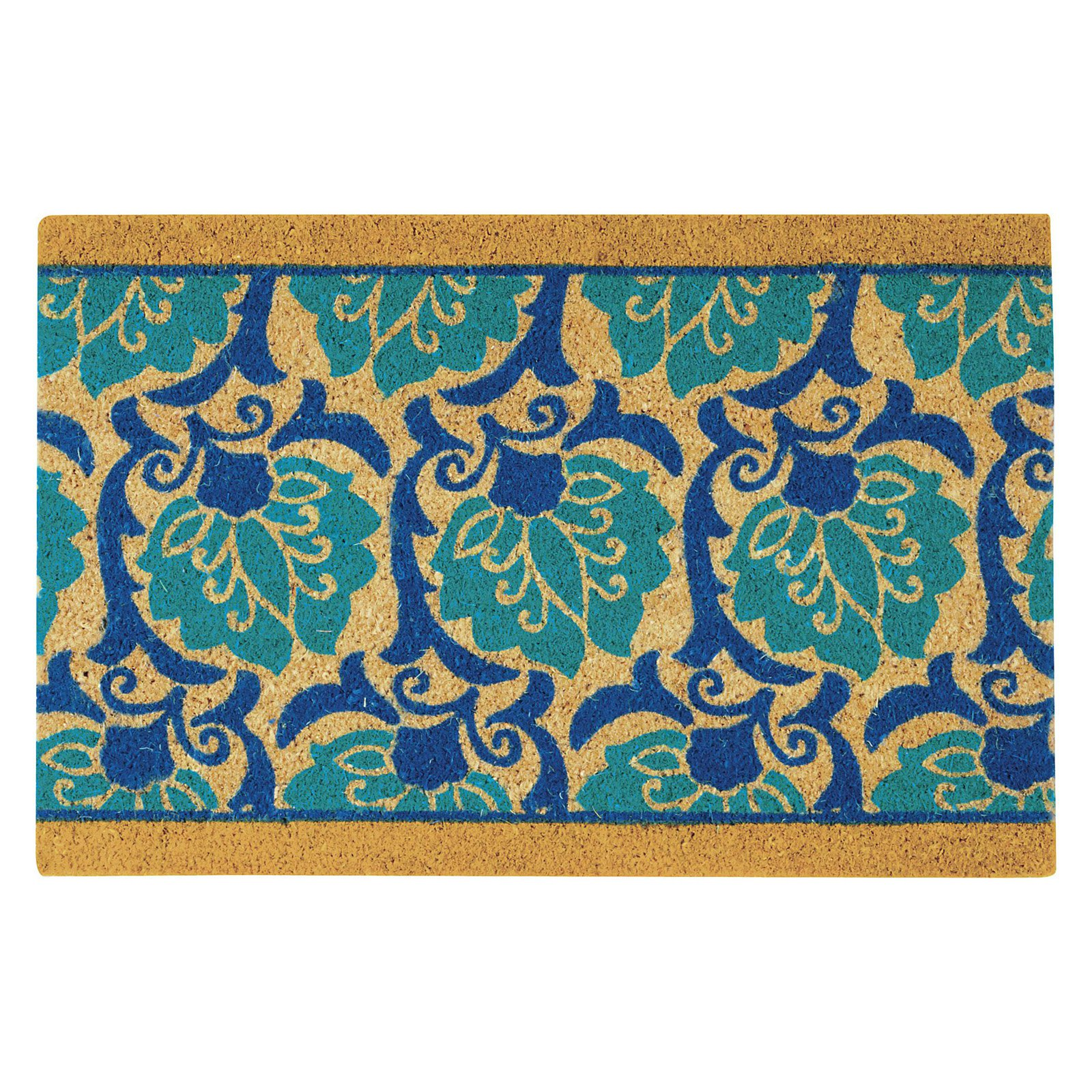 "Waverly Greetings ""Playful Prose"" Aqua Doormat by Nourison"