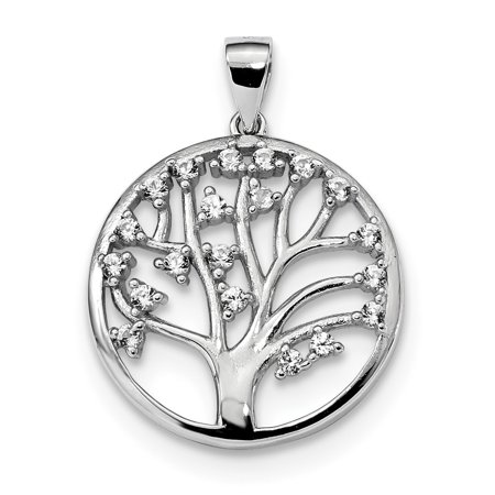 White Sterling Silver Charm Pendant Themed Sapphire (Colors), Lab Created Trillion Clear 28.2 mm 21.1