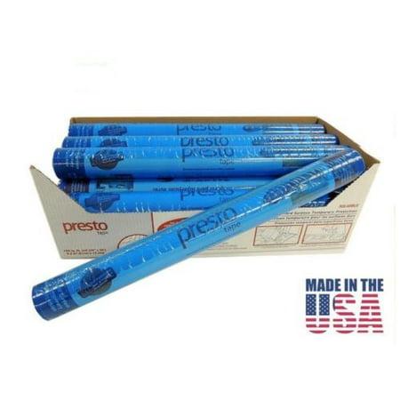 Blue Plastic Tape - Surface Protection Tape 3 Mil Self-Adhesive Plastic Film 24
